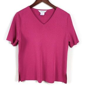 Exclusively Misook Pink Tunic   M